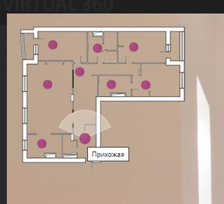 План помещения в виртуальном туре